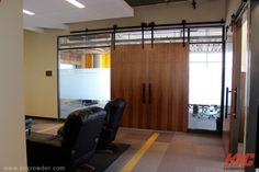 CFT-202-BP Sliding Door Kit is used in an office building in Calgary, Alberta
