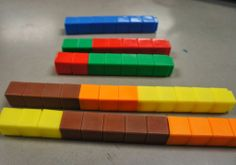 Use snap cubes as a concrete representation of the properties of addition.