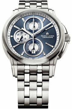 Maurice Lacroix Pontos Automatic Blue Dial Mens Watch PT6188-SS002-430