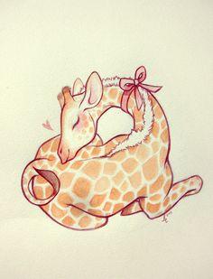 Giraffe Calf by ~lindsaycampbell on deviantART
