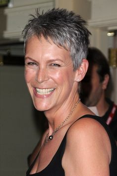 "This is my letting it go gray"" inspiration. Such a gorgeous woman...she rocks!!"
