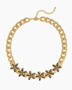 Chunky Chain Flower Necklace   Jewelry Fashion   charming charlie