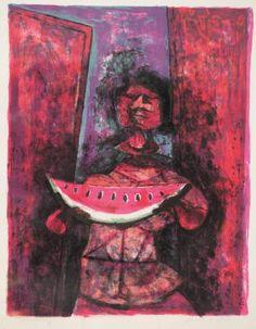 Melonenesser by RUFINO TAMAYO