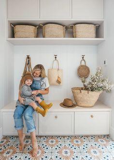 Laundry Room Design, Mudroom Laundry Room, Design Scandinavian, Modern Coastal, Coastal Living, Interior Stylist, Interior Design, House Entrance, Coastal Homes