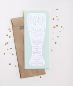 Casey + Blain's Brewery Baby Shower Invitations