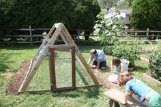 fall gardening:: the almighty bean hut