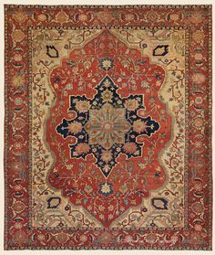 "SERAPI, Northwest Persian Antique 8' 5"" x 10' 1"" — 3rd Quarter, 19th Century Rug - Claremont Rug Company Click to learn more about this rug."