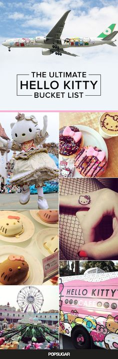 You're not a real Hello Kitty fan until you complete this bucket list. Great 2016 resolution!