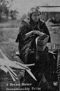 Passamaquoddy basket maker - circa 1920 (478×720)