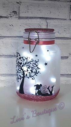Fairy lantern, night light, mood light, fairy in a jar, fairy lights, fairies, perfect for kids, night light, around the home, lamp