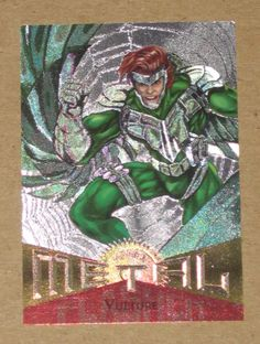Vulture - 1995 Marvel Metal: Silver Flasher Card #81 (Fleer Corp)