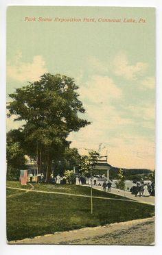 Conneaut Lake Pa Exposition Park Scene 1910