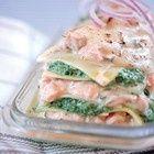 Lasagne met zalm en spinazie recept