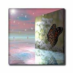 """3d Butterfly - 12 Inch Ceramic Tile by Beverly Turner Photography. $22.99. Clean with mild detergent. Dimensions: 12"""" H x 12"""" W x 1/4"""" D. Image applied to the top surface. Construction grade. Floor installation not recommended.. High gloss finish. 3d Butterfly Tile is great for a backsplash, countertop or as an accent. This commercial quality construction grade tile has a high gloss finish. The image is applied to the top surface and can be cleaned with a mild detergent."""