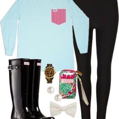 Rainy days don't scare us! We always have our boots + pocket tees ready ☔️ #FraternityCollection #pockettee