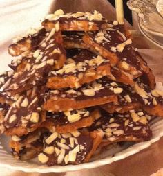 English Toffee - the EASIEST and BEST recipe ever!  Anyone can make this :)