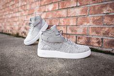 "A Closer Look at The ""Wolf Grey"" Nike Air Force 1 Ultra Flyknit Mid"