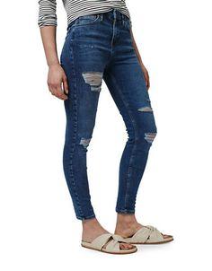 Women | Jeans  | MOTO Ripped Jamie Skinny Jeans 30 Inch Long | Hudson's Bay