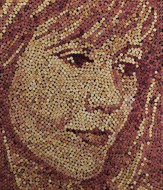 A wine cork portrait