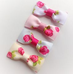 Vintage Rose Hair Clip Set  alligator clips by Bowtifulbyamy