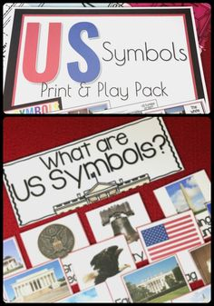 US SYMBOLS printable pack | lessons on USA for kindergarten | US history for kids
