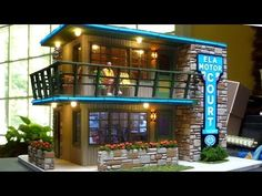 An O Scale Mid-Century Motel Scratch Build Part 4 - Lighting, Stonework, Completing Assembly - YouTube