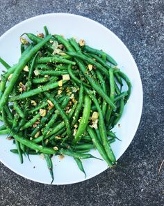 green beans with pis