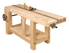 Why A Roubo-style Workbench Is So Useful In A Woodworking Shop - Gotta Go Do It Yourself Workbench Stool, Workbench Plans, Woodworking Workbench, Woodworking Shop, Sketchup Woodworking, Garage Workbench, Woodworking Patterns, Woodworking Projects Diy, Woodworking Supplies