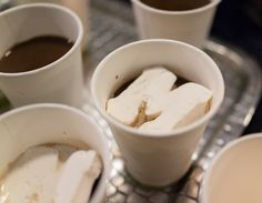 Block M marshmallows for hot chocolate