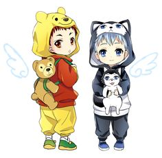 Awwww so cute!!!!!!! <3 <3 <3 Chibi animals and chibi Kagami and Kuroko in adorable animal costumes! Could they be any cuter?!