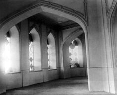 An interior view of the Baha'i House of Worship in Ishqabad