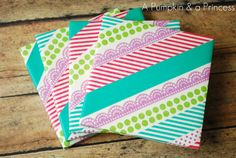 Washi Tape Coasters.  Pretty sure I have enough coasters by now - but these are cute enough to tempt me to make more!