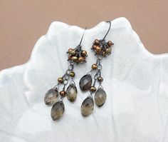 smoky quartz necklace smoky quartz by SharonClancyDesigns on Etsy, $48.00