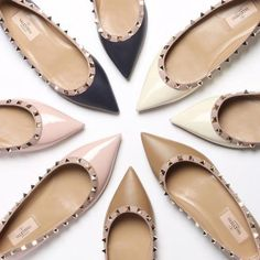 Looking for these to trade ISO trades Valentino Garavani Shoes Flats & Loafers Valentino Rockstud Shoes, Valentino Shoes Flat, Valentino Garavani, Look 2015, Studded Flats, Luxury Shoes, Designer Shoes, Birkenstock, Me Too Shoes