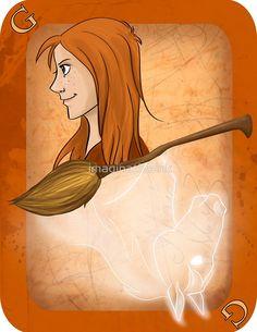 Ginny Weasley Playing Card by imaginativeink