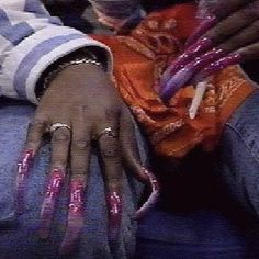 Beauty Nails Why you no at I do for you hunny make you pretty Why you no at I do for you hunny make you pretty Soft Ghetto, Ghetto Fabulous, Aesthetic Collage, 90s Aesthetic, Black Girl Art, Black Girl Magic, Curved Nails, Vintage Black Glamour, Black Girl Aesthetic