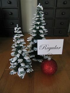 Make-your-own placecard holders...a number of different ideas on this great site.