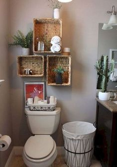 Smart And Easy Bathroom Storage Ideas Simple and rustic decor for the guest bathroom. - Smart And Easy Bathroom Storage Ideas Simple and rustic decor for the guest bathroom. Simple Bathroom, Bathroom Makeover, Bathroom Shelves, Apartment Decor, Bathroom Decor, Home Diy, Shelves, Home Decor, Diy Bathroom Storage