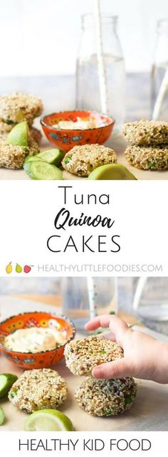Healthy Meals For Kids These tuna quinoa cakes are great as part of a main meal or can be popped into the lunch box the next day. Fish Recipes For Kids, Healthy Meals For Kids, Healthy Foods To Eat, Baby Food Recipes, Kids Meals, Healthy Snacks, Healthy Eating, Healthy Recipes, Toddler Recipes