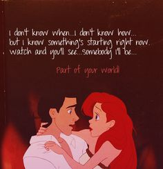 I love the Little Mermaid!