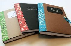 Super cute, mini composition cover tutorial. Love it!!! Love the craft paper and the bright spine.