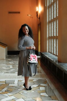 The Houndstooth Sweater Dress