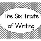 Display the Six Traits of Writing and their meanings in your classroom with style! This set of 7 multicolored chevron print posters (one title post. Six Traits, 6 Traits Of Writing, Writing Words, Writing Resources, Writing Activities, 5th Grade Classroom, High School Classroom, Future Classroom, Classroom Ideas