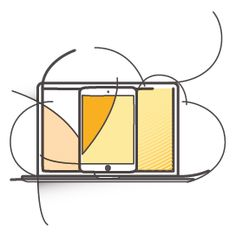 Cloud solutions for websites icon