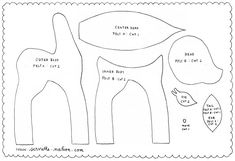 pattern for felt deer - Adorable!  I must practice my hand sewing (even spaced stitches...ugh!)