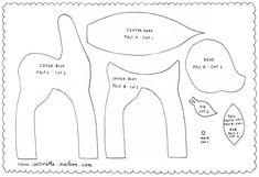 pattern for felt deer
