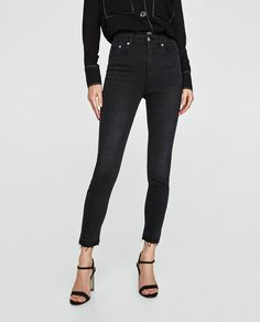 Imagine 2 din JEANS HIGH WAIST REVOLVE MIDNIGHT de pe Zara