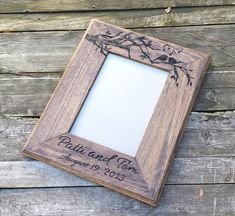 Picture frame custom wedding photo frame love birds by arrowsarah
