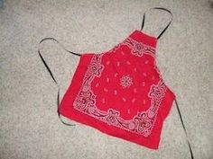 Kids apron from a bandana. Quick sew for a little boy or girl gift. by Kharis