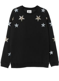 Zoe Karssen Loose Fit Sequin Star Sweatshirt
